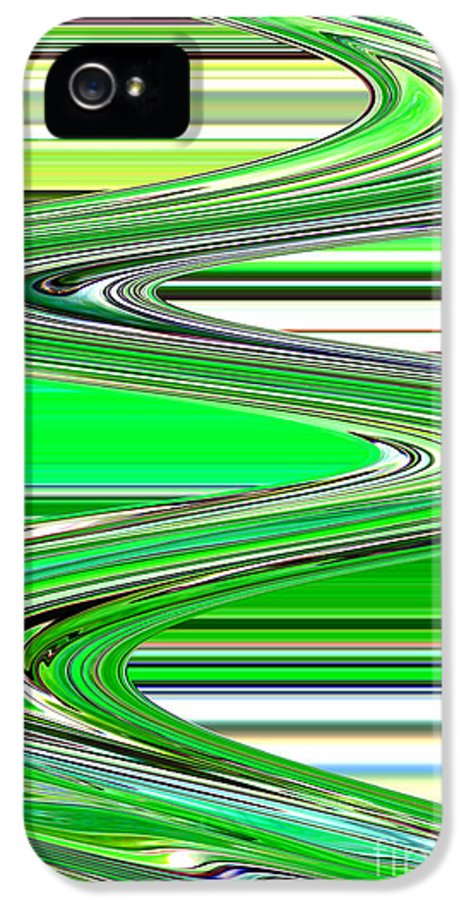 Green Abstract IPhone 5 Case featuring the photograph Go With The Flow by Carol Groenen