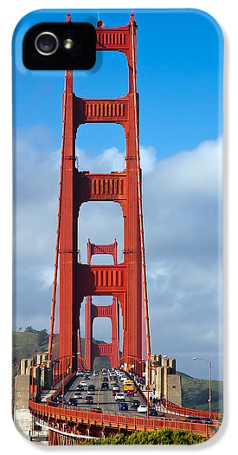 3scape IPhone 5 Case featuring the photograph Golden Gate Bridge by Adam Romanowicz