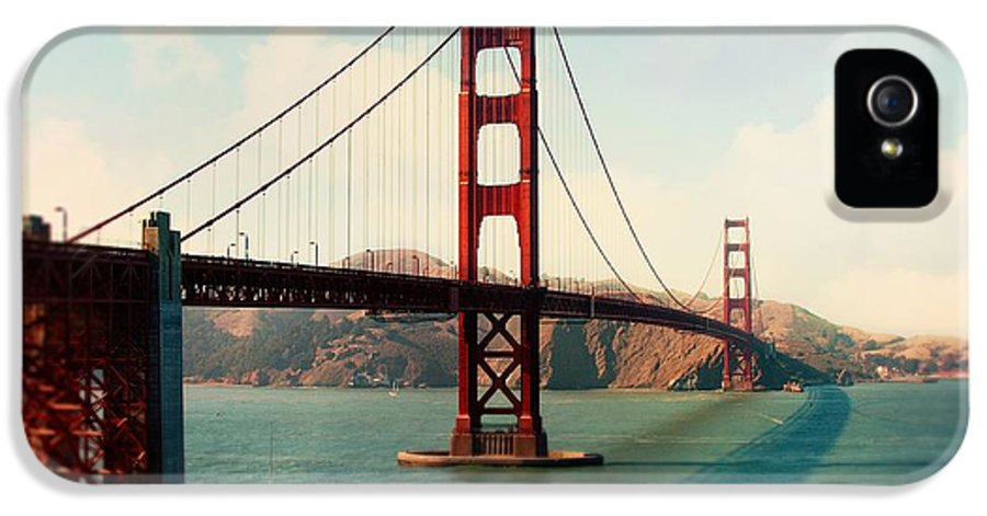 Golden Gate Bridge IPhone 5 Case featuring the photograph Golden Gate Bridge by Sylvia Cook