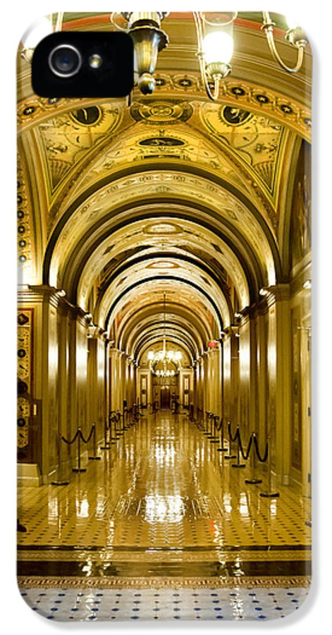 The Capitol IPhone 5 Case featuring the photograph Golden Government by Greg Fortier