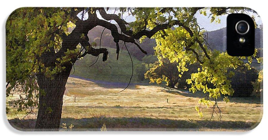 Oak IPhone 5 / 5s Case featuring the digital art Golden Oaks by Sharon Foster