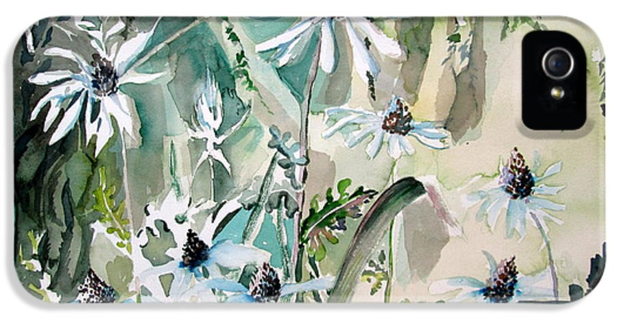 Daisy IPhone 5 Case featuring the painting Good Morning by Mindy Newman