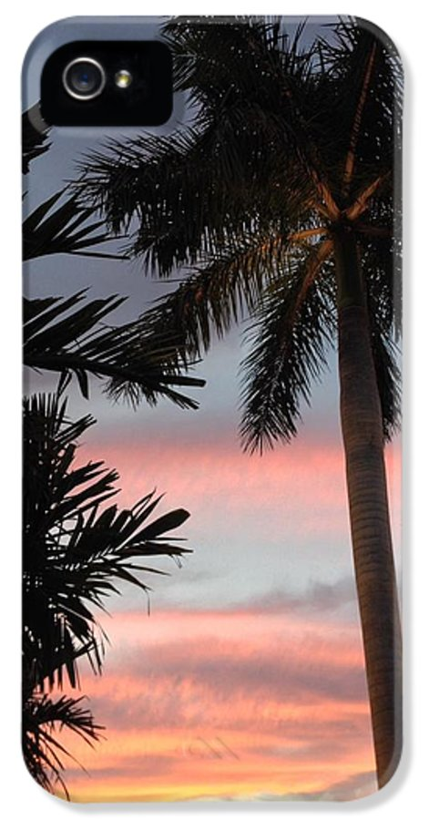 Pastel Sky IPhone 5 Case featuring the photograph Goodnight Waterside by K Simmons Luna