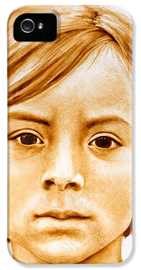 Face IPhone 5 Case featuring the painting Gracie by Julee Nicklaus