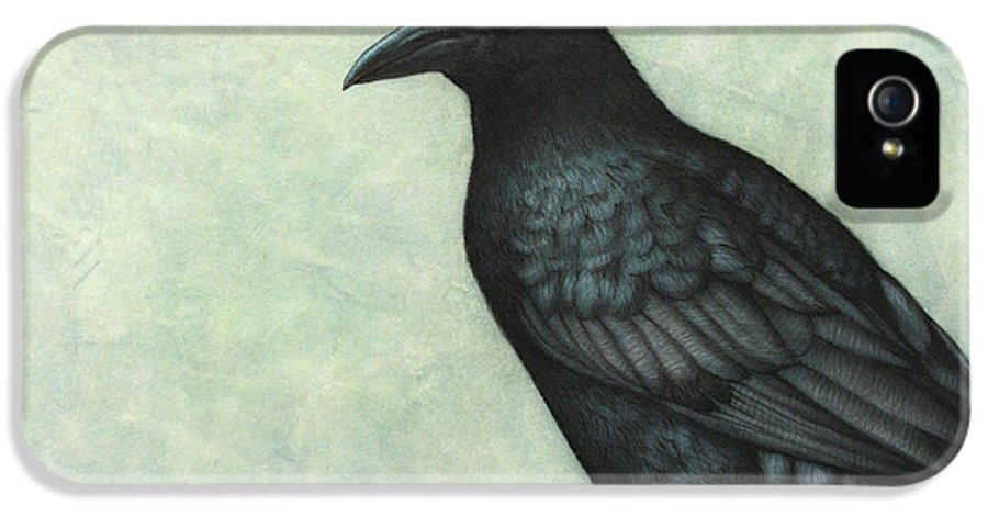Grackle IPhone 5 Case featuring the painting Grackle by James W Johnson