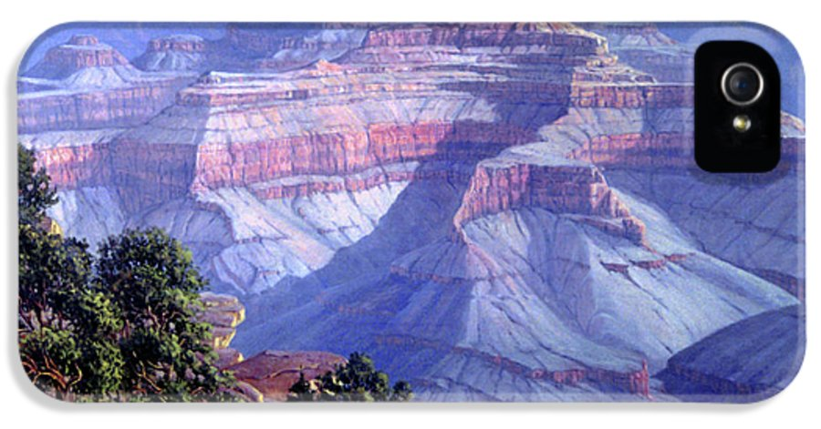 Grand Canyon IPhone 5 Case featuring the painting Grand Canyon by Randy Follis