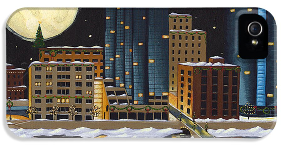 Grand Rapids IPhone 5 Case featuring the painting Grand Rapids by Christy Beckwith