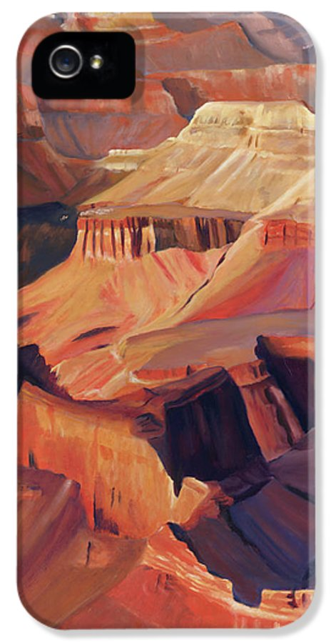 Grand Canyon IPhone 5 Case featuring the painting Grand View by Jack Atkins