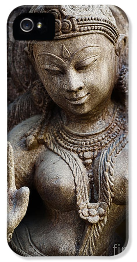 Granite IPhone 5 Case featuring the photograph Granite Indian Goddess by Tim Gainey