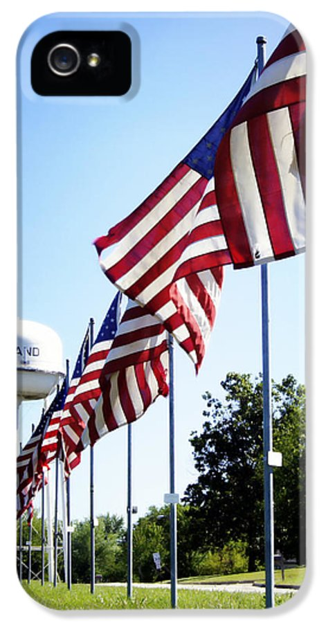 Flag IPhone 5 Case featuring the photograph Gratitude by Cricket Hackmann
