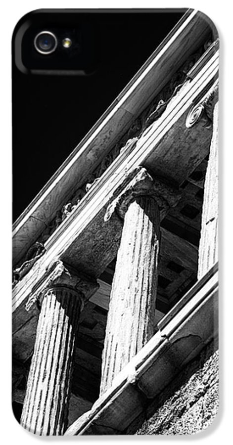 Greek Columns IPhone 5 Case featuring the photograph Greek Columns by John Rizzuto