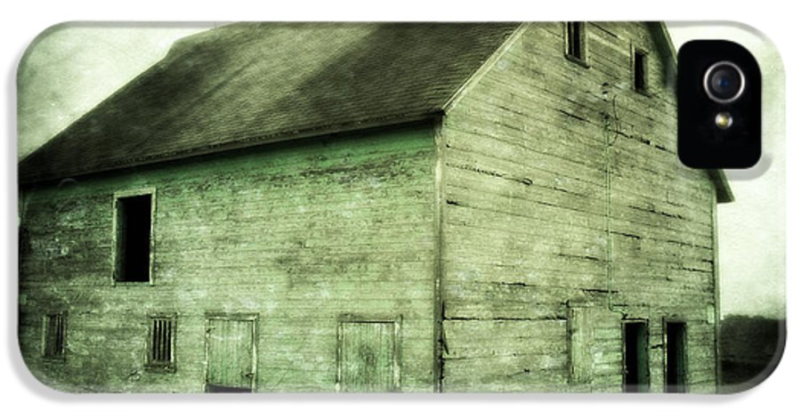 Barn IPhone 5 Case featuring the photograph Green Barn by Julie Hamilton