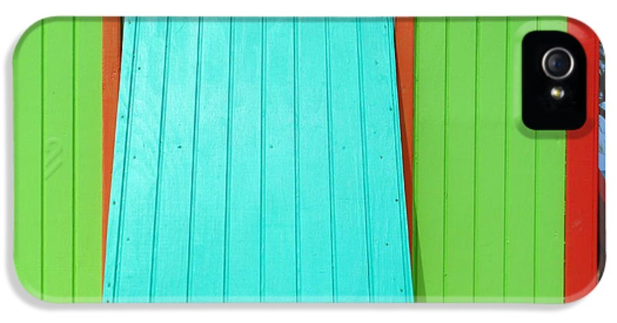 Caribbean Corner IPhone 5 Case featuring the photograph Green Cabin by Randall Weidner