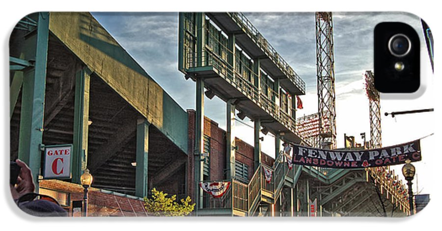 Fenway Park IPhone 5 Case featuring the photograph Green Monster by Joann Vitali