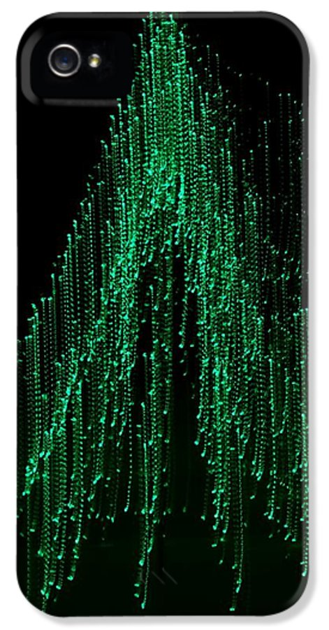 Abstract IPhone 5 Case featuring the photograph Green Tree 2 by Jeffrey J Nagy