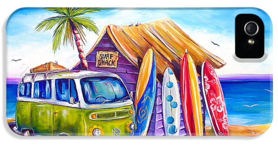 Kombi IPhone 5 Case featuring the painting Greenie by Deb Broughton