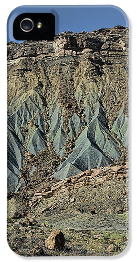 Boulder IPhone 5 Case featuring the photograph Grey Cliffs In Waterpocket Fold by Gregory Scott