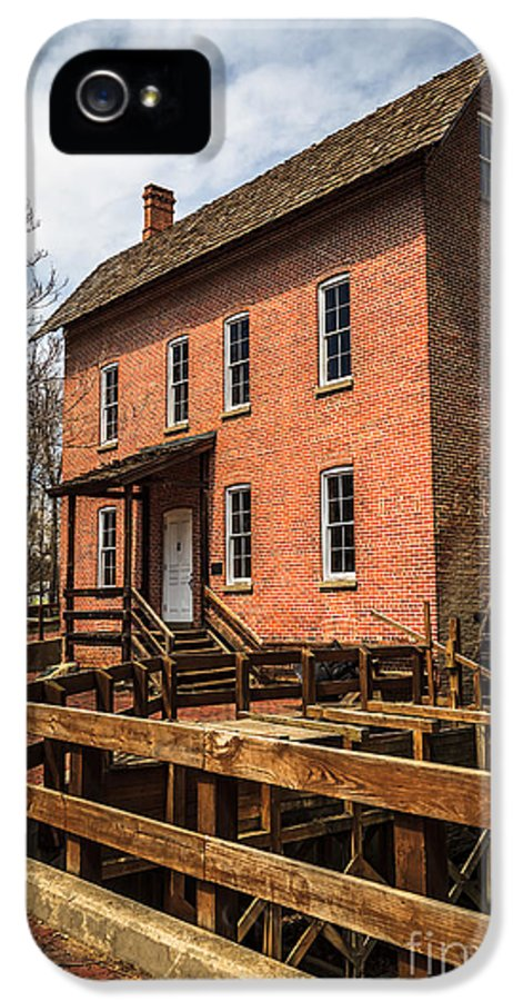 1800's IPhone 5 Case featuring the photograph Grist Mill In Hobart Indiana by Paul Velgos