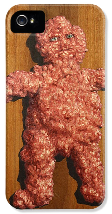 Ground Meat IPhone 5 Case featuring the painting Ground Me by James W Johnson