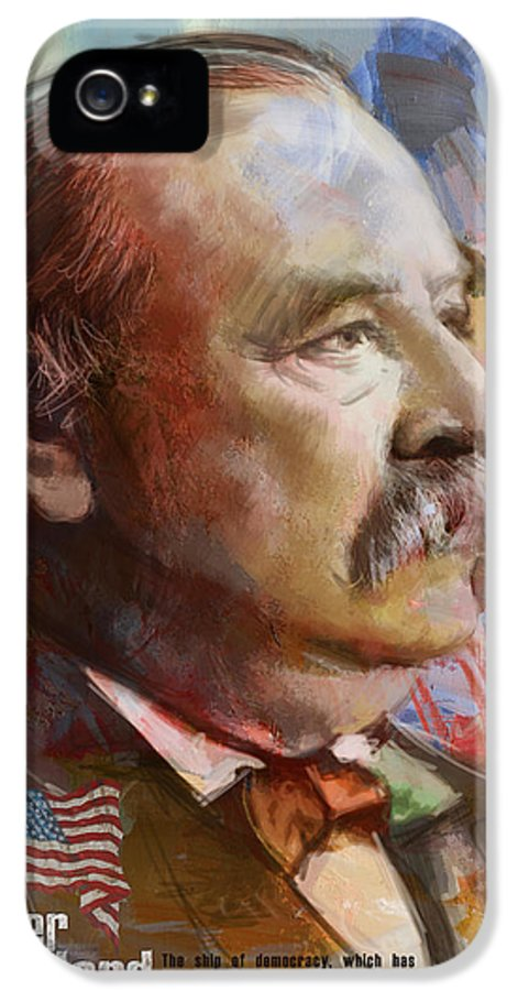 Grover Cleveland IPhone 5 Case featuring the painting Grover Cleveland by Corporate Art Task Force