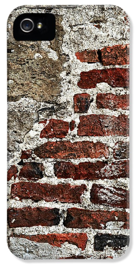 Wall IPhone 5 Case featuring the photograph Grunge Brick Wall by Elena Elisseeva