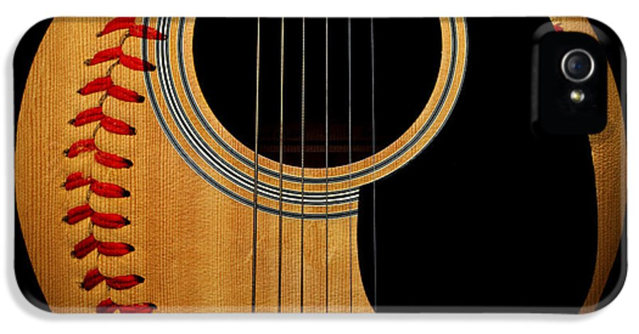 Baseball IPhone 5 Case featuring the photograph Guitar Baseball Square by Andee Design