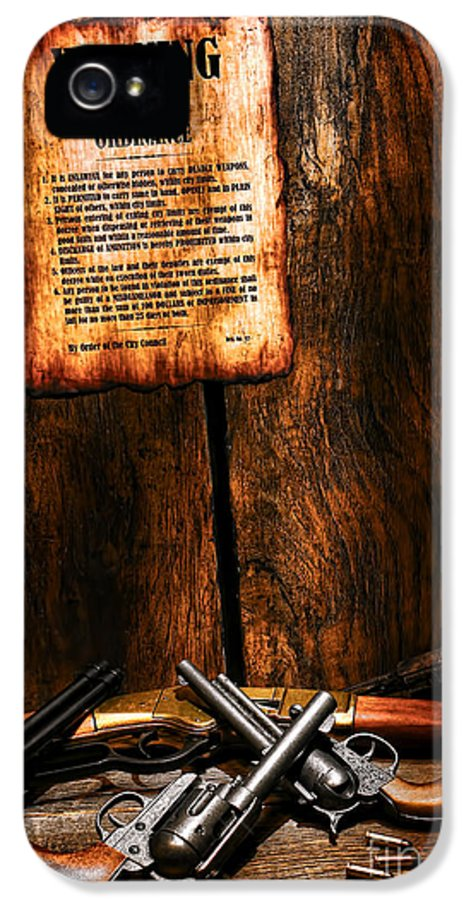 Western IPhone 5 Case featuring the photograph Gun Control by Olivier Le Queinec