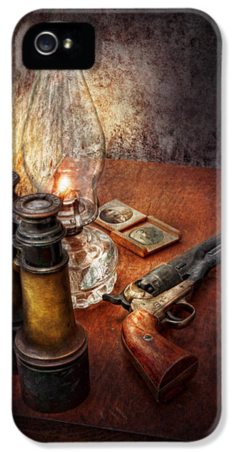 Gun IPhone 5 Case featuring the photograph Gun - The Adventures Code by Mike Savad