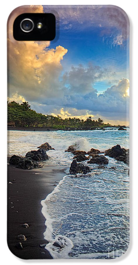 America IPhone 5 Case featuring the photograph Hana Clouds by Inge Johnsson