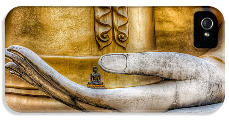 Buddha IPhone 5 Case featuring the photograph Hand Of Buddha by Adrian Evans