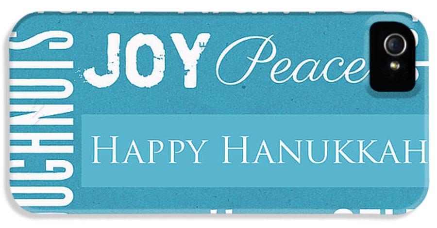Hanukkah IPhone 5 Case featuring the mixed media Hanukkah Fun by Linda Woods
