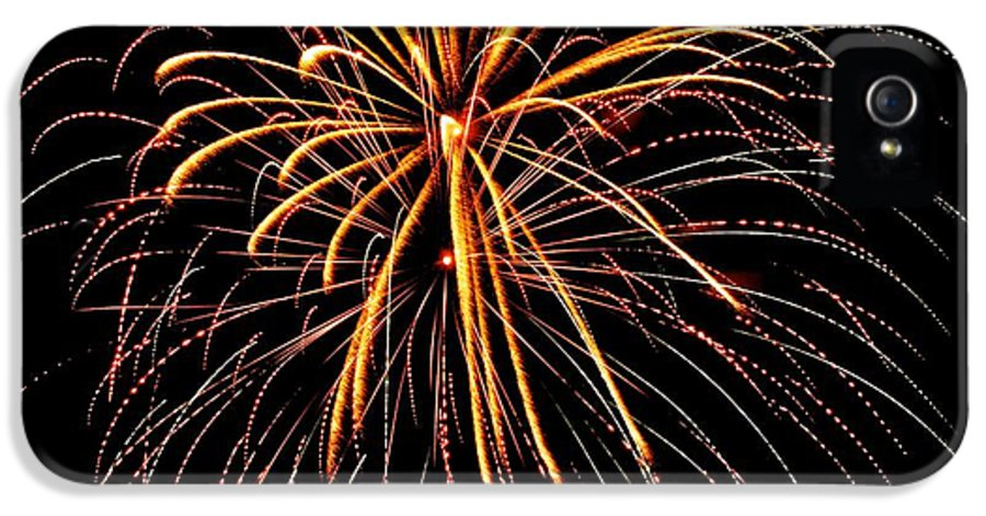 Fireworks IPhone 5 Case featuring the photograph Happy 4th Of July - No. 1 by Barbara Clark