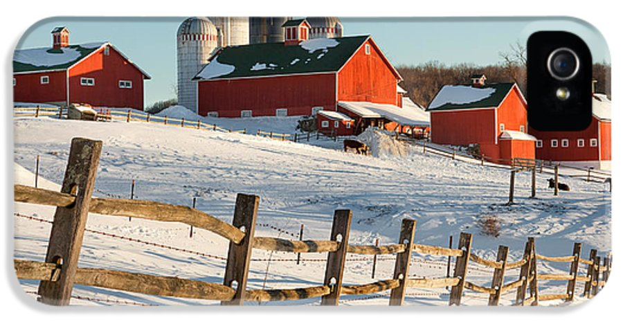 Barnyard IPhone 5 Case featuring the photograph Happy Acres Farm by Bill Wakeley
