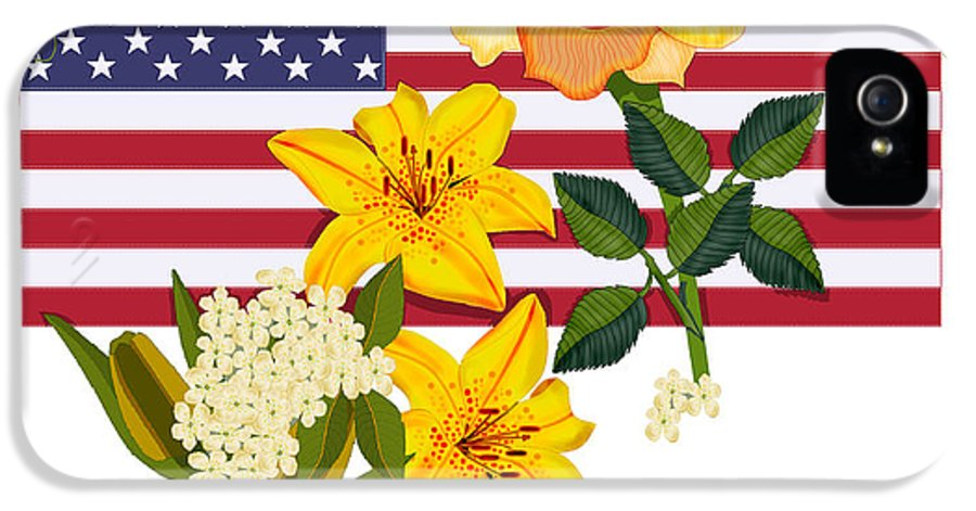 Old Glory IPhone 5 Case featuring the painting Happy Birthday America 2013 by Anne Norskog