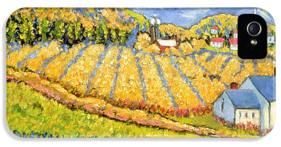 Crop IPhone 5 Case featuring the painting Harvest St Germain Quebec by Patricia Eyre
