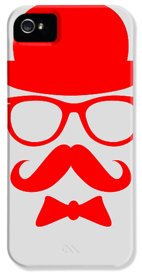 Motivational IPhone 5 Case featuring the digital art Hats Glasses And Mustache Poster 3 by Naxart Studio