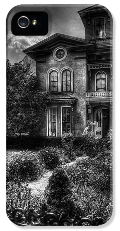 Hdr IPhone 5 Case featuring the photograph Haunted - Haunted House by Mike Savad