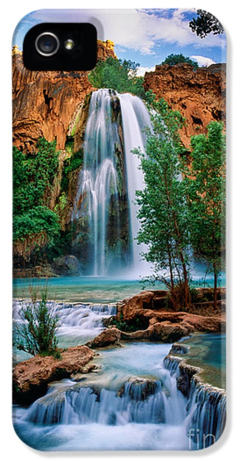 America IPhone 5 Case featuring the photograph Havasu Cascades by Inge Johnsson
