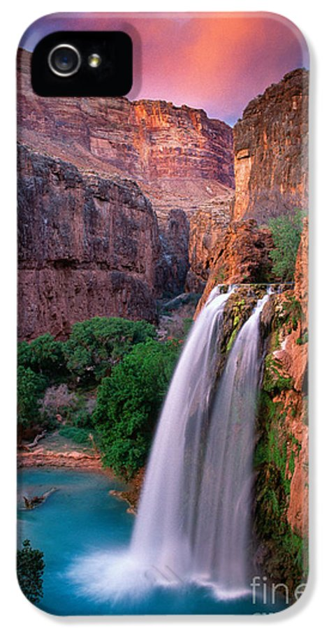 America IPhone 5 Case featuring the photograph Havasu Falls by Inge Johnsson