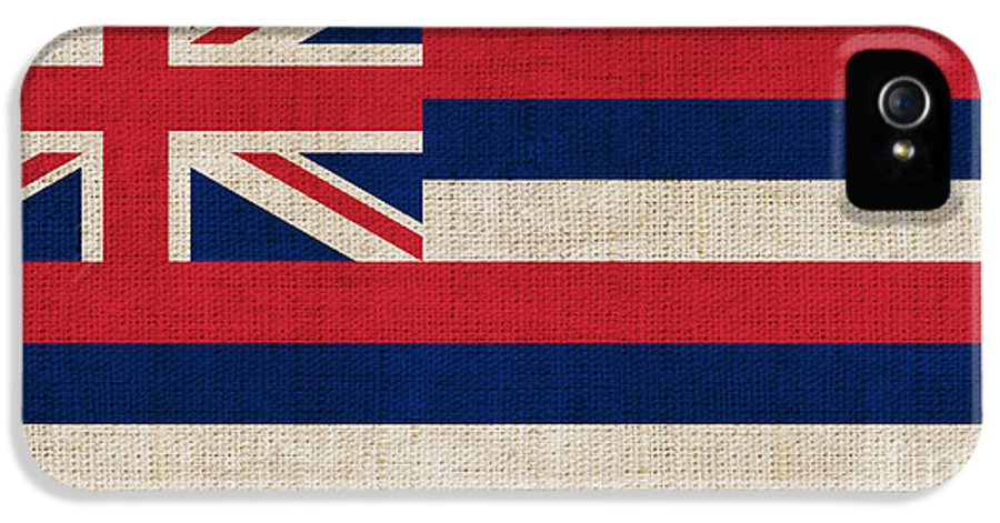 Hawaii IPhone 5 Case featuring the painting Hawaii State Flag by Pixel Chimp