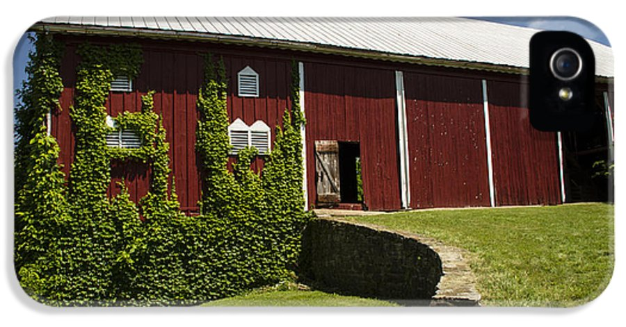 Landscape Photographs IPhone 5 Case featuring the photograph Hay Barn by Guy Shultz
