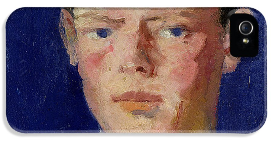 Cadell IPhone 5 Case featuring the painting Head Of A Young Man by Francis Campbell Boileau Cadell