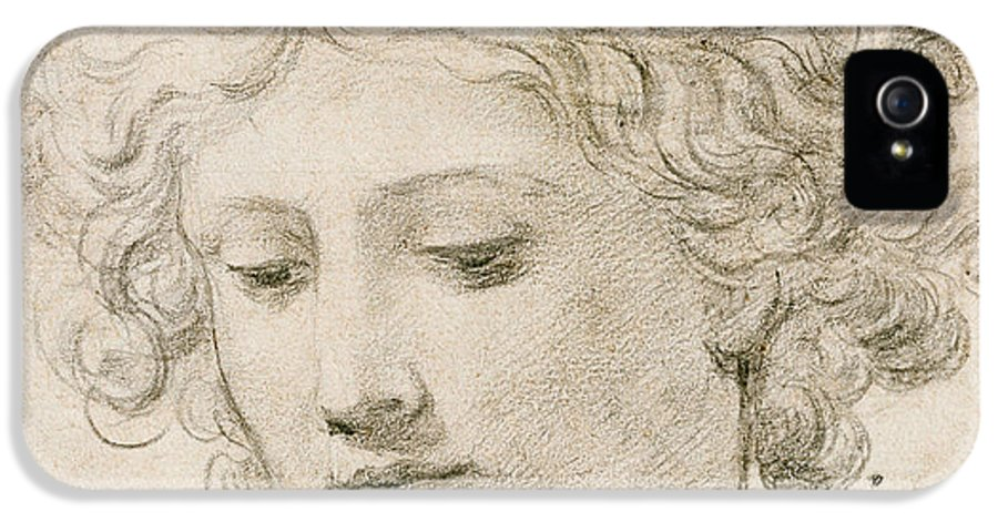 Young Boy IPhone 5 Case featuring the drawing Head Of An Angel by Pietro da Cortona