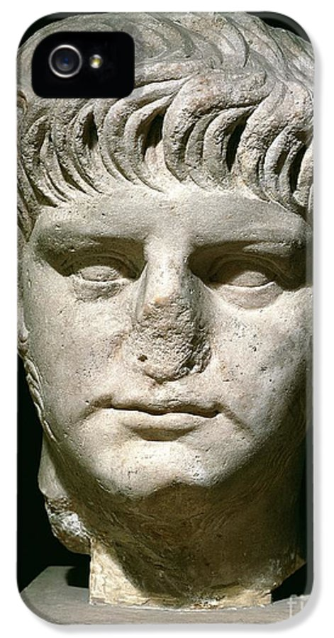 Roman Emperor IPhone 5 Case featuring the sculpture Head Of Nero by Anonymous