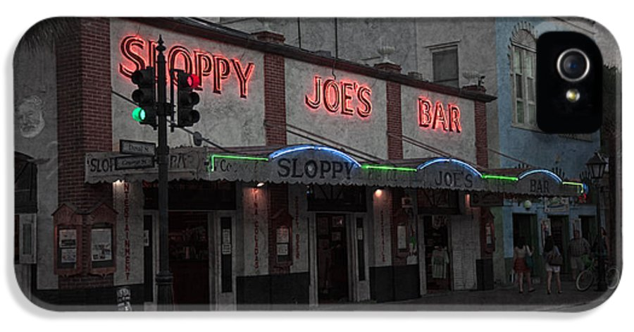 Sloppy Joes Bar IPhone 5 Case featuring the photograph I Heard I Was In Town by John Stephens