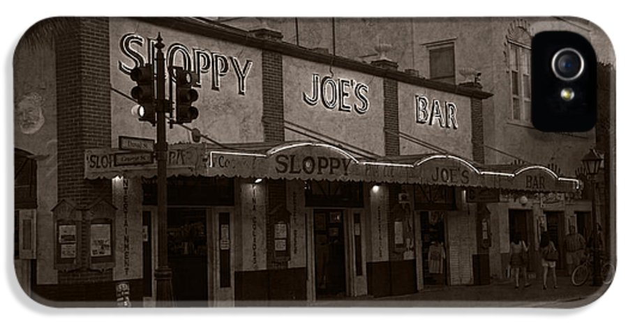 Sloppy Joes Bar IPhone 5 Case featuring the photograph Hemingway Was Here by John Stephens