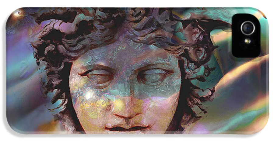 Ursula Freer IPhone 5 Case featuring the digital art Hermes by Ursula Freer