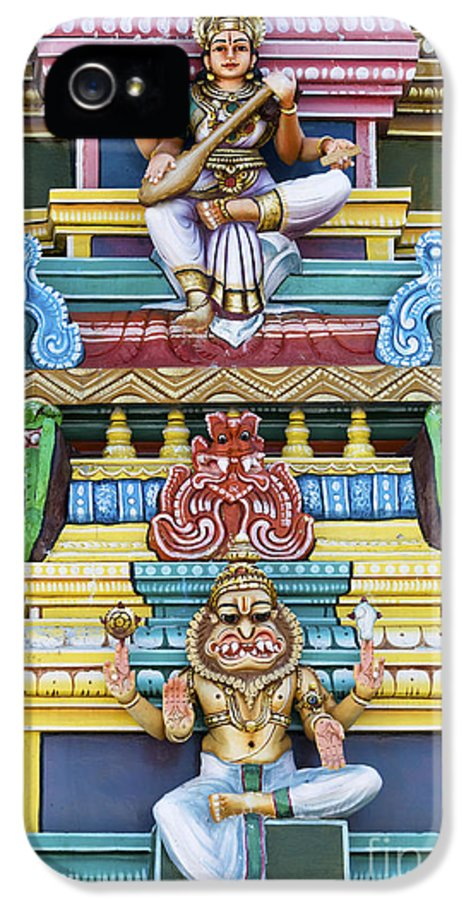 Gods IPhone 5 Case featuring the photograph Hindu Temple Deity Statues by Tim Gainey