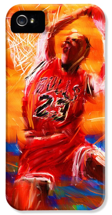 Basketball IPhone 5 Case featuring the digital art His Airness by Lourry Legarde