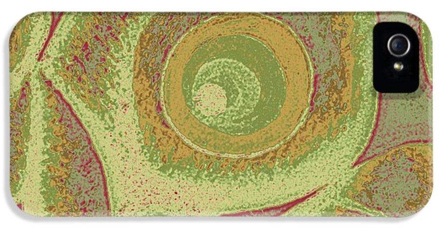 His Navel Australian IPhone 5 Case featuring the digital art His Navel Australian Aboriginal by Feile Case